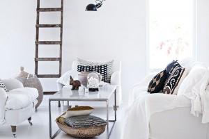 Mintgroen decoratie woonkamer