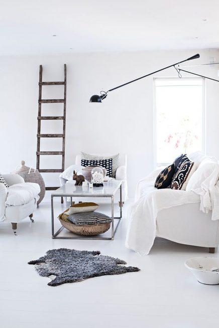 Decoratieve ladders voor in de woonkamer inrichting for Decoratie interieur woonkamer