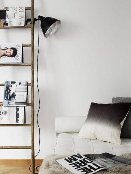 Decoratieve ladders voor in de woonkamer inrichting for Decoratie industrieel