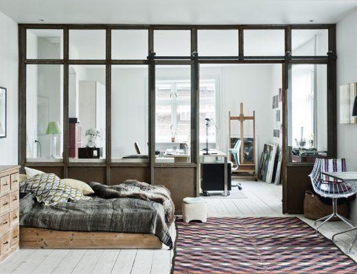 Deens appartement met industriële details van kunstenares Gitte