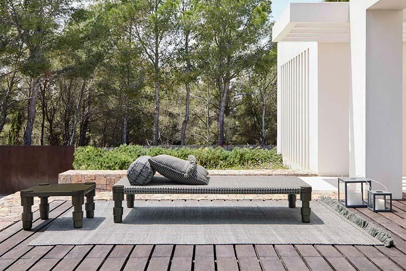 Design tuinmeubelen - Gan Rugs Garden Layers Single Indian Daybed