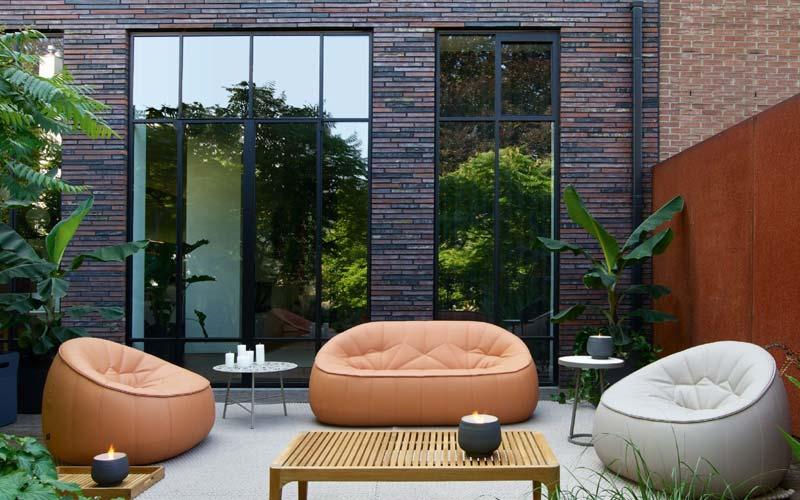 Design tuinmeubelen - Ligne Roset Ottoman outdoor