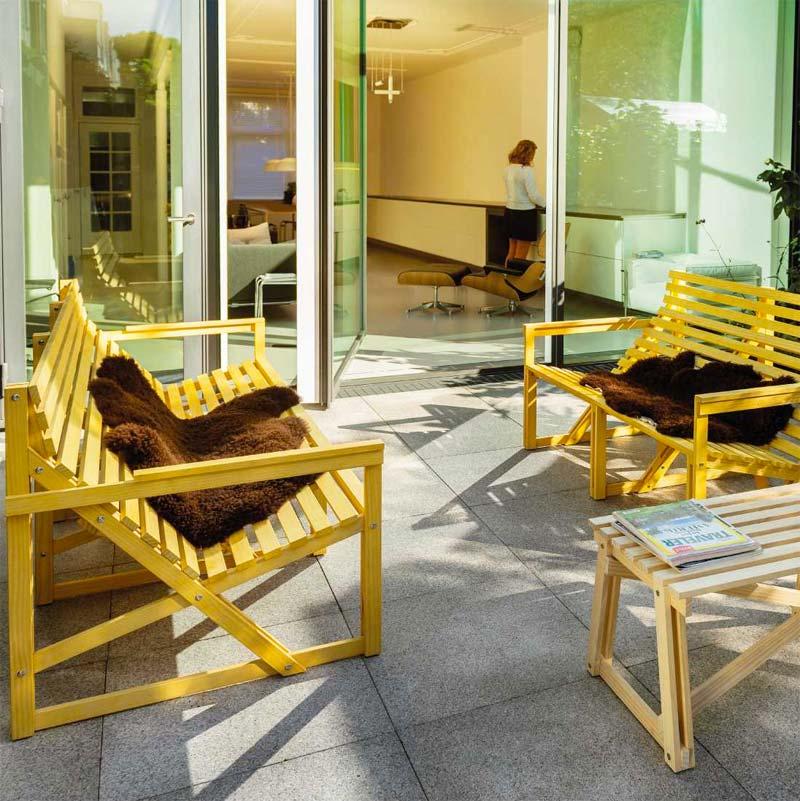 Design tuinmeubelen - Weltevree patiobank