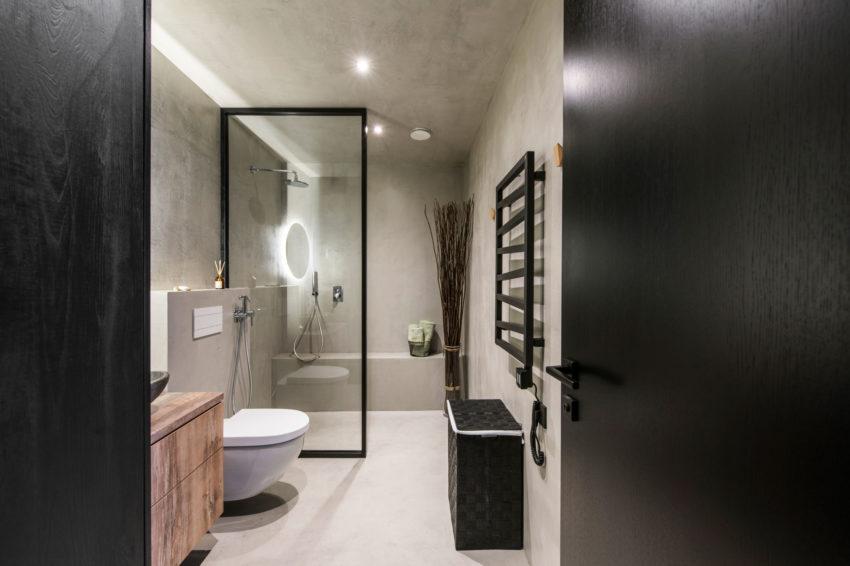 Deze Kleine Badkamer Van Nog Geen 6m2 Is Super Stoer Ingericht Inrichting Huis Com