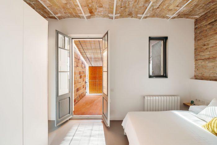 Slaapkamer openslaande deuren naar dakterras