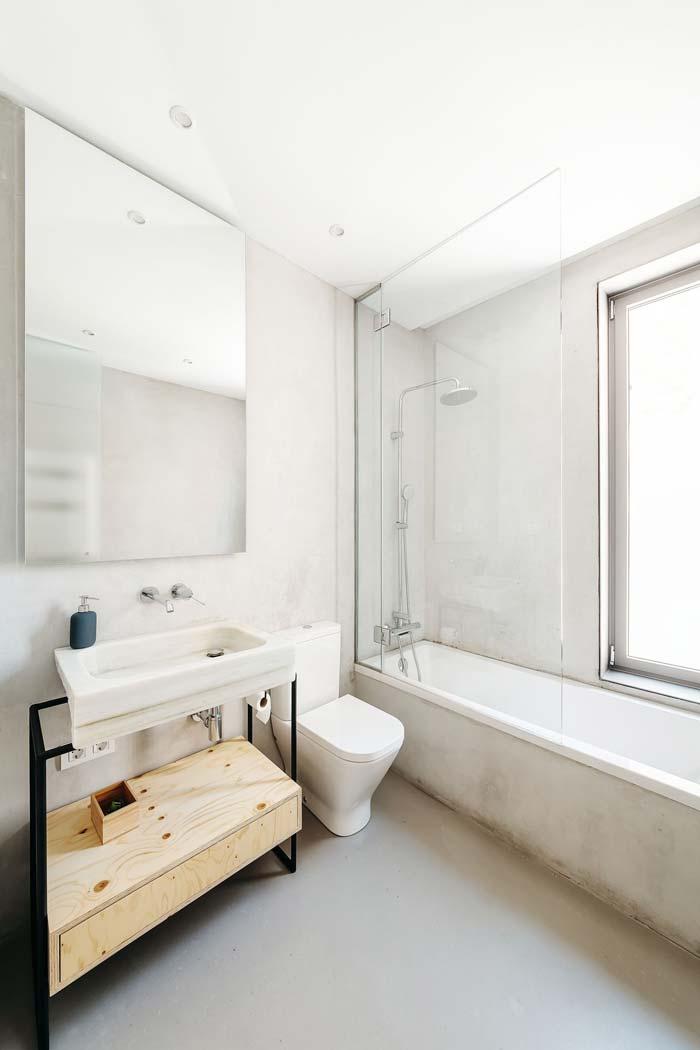 stoere badkamer met betonstuc