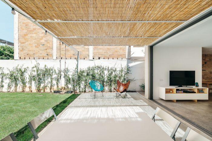 Bamboe terrasoverkapping