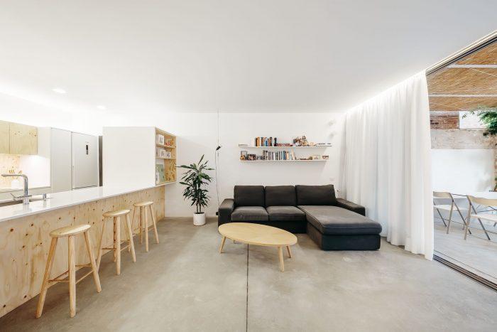 Betonvloer woonkamer