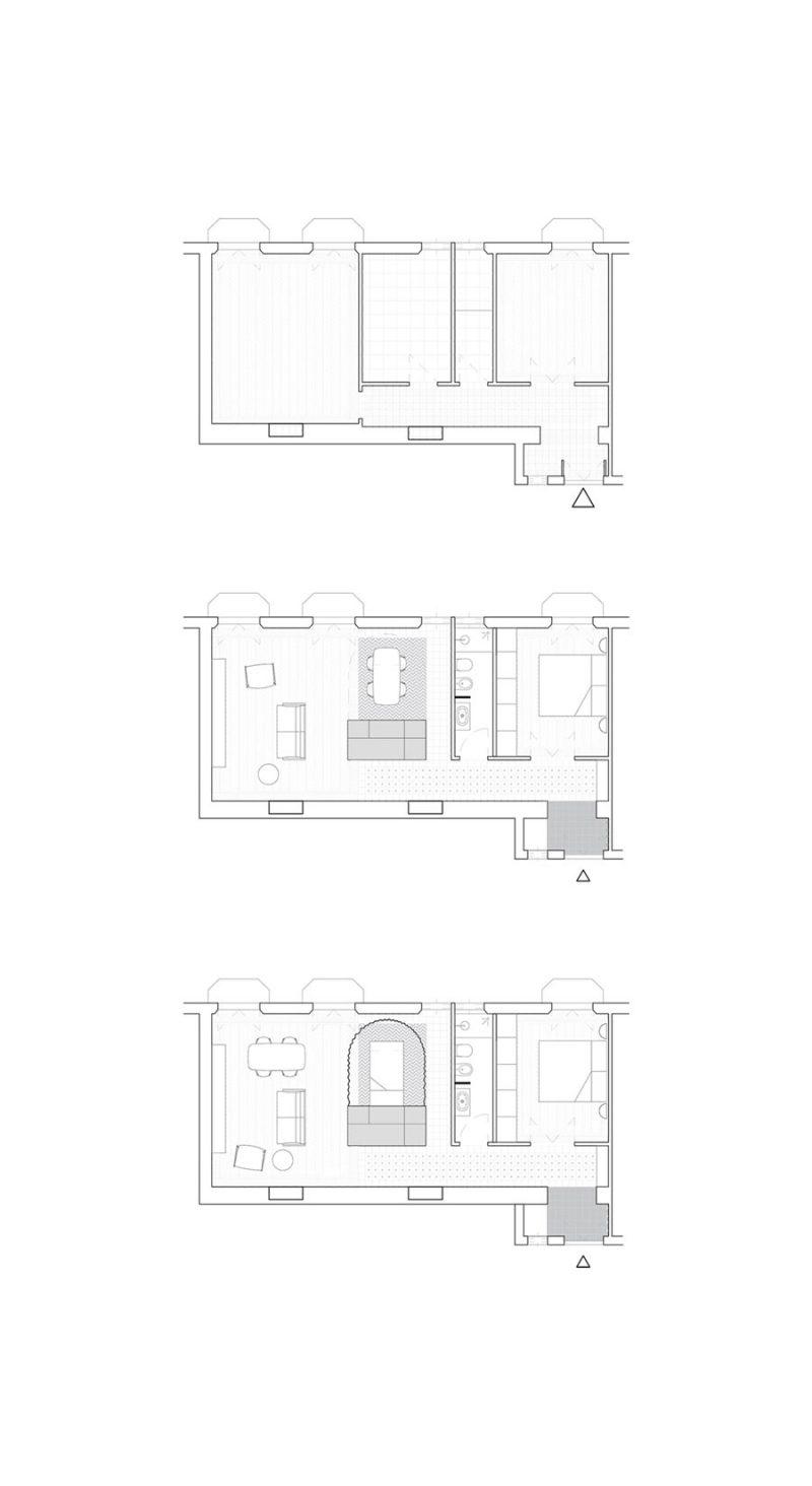 Dit kleine appartement is creatief ingericht met een flexibele logeerkamer!