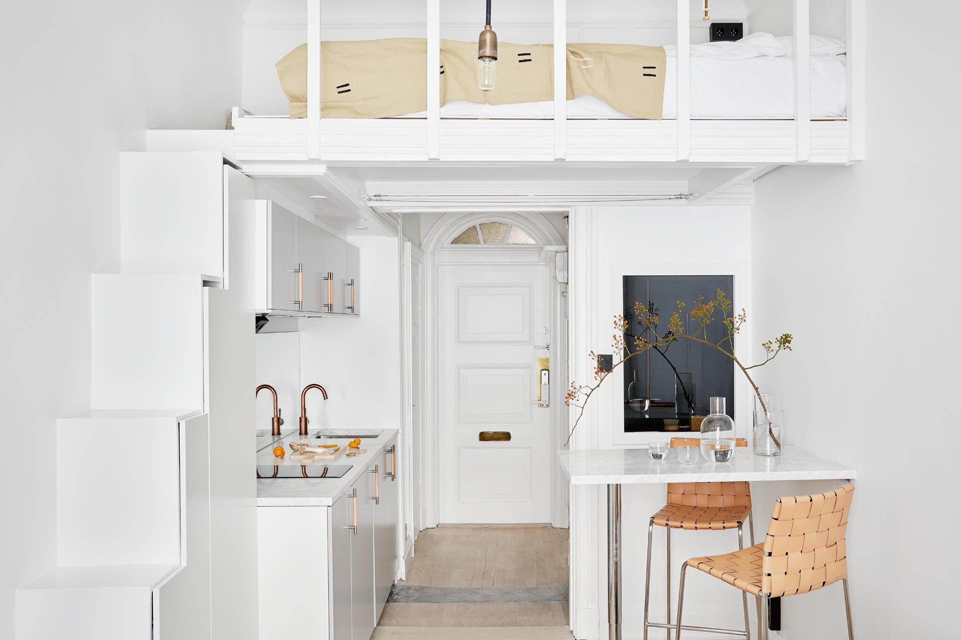 Dit kleine appartement van 18m2 is leuk inrichting - Kleine studio ontwikkeling ...