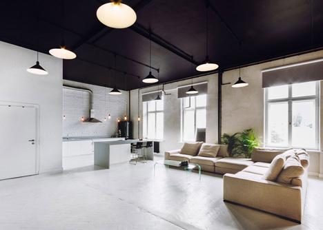 Dit pand uit 1912 is omgetoverd tot een inspirerend appartement en werkruimte