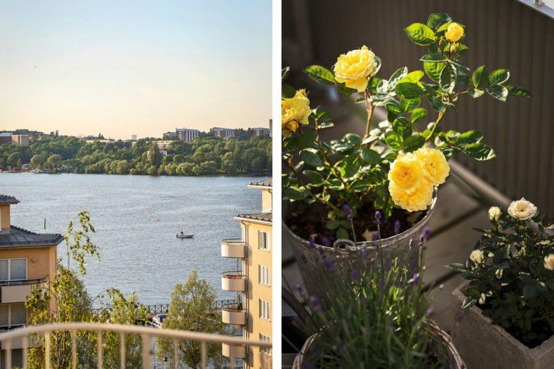 Dit ruime balkon terras van 17m2 maakt de 51m2 aan woonoppervlak helemaal goed!