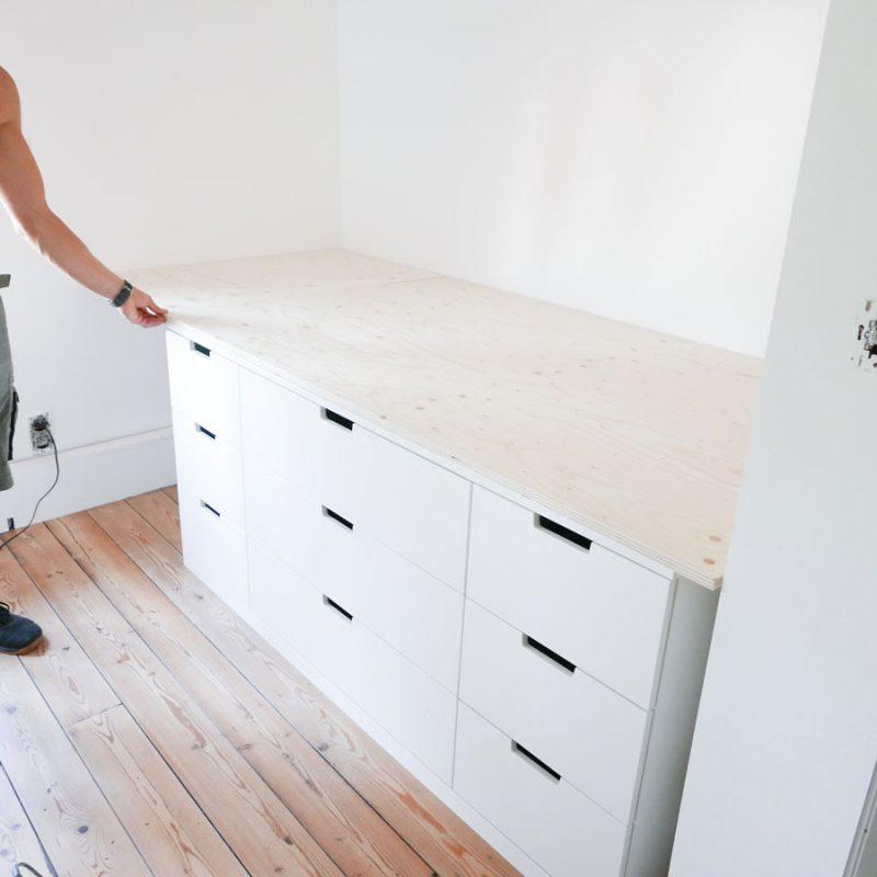 DIY hoogslaper met IKEA NORDLI kasten