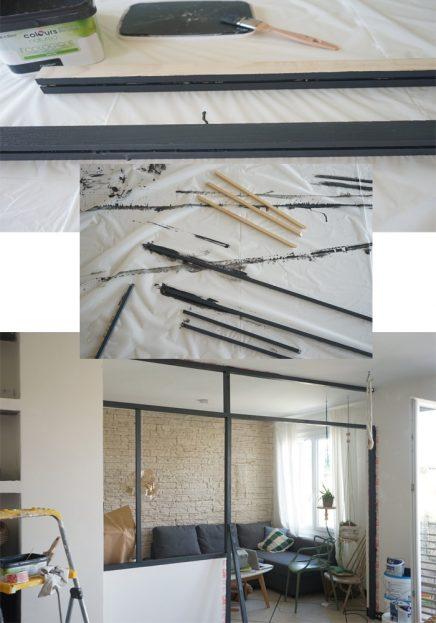 DIY industriële scheidingswand van hout