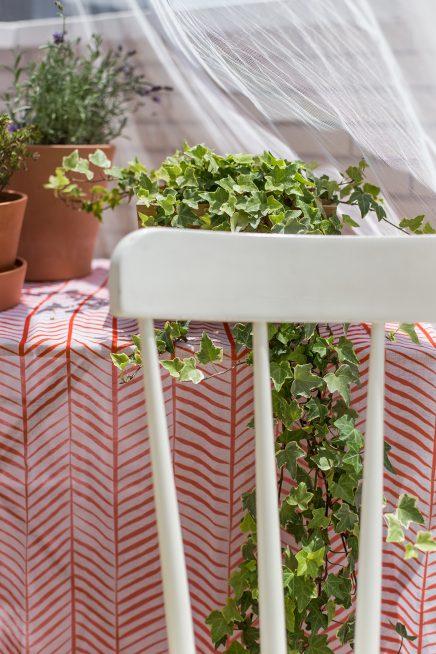 De DIY loungehoek op het terras van Maria