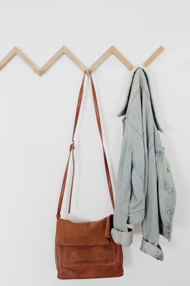 DIY minimalistishce zigzag kapstok
