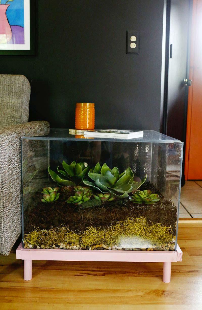 diy plexiglas terrarium bijzettafel maken