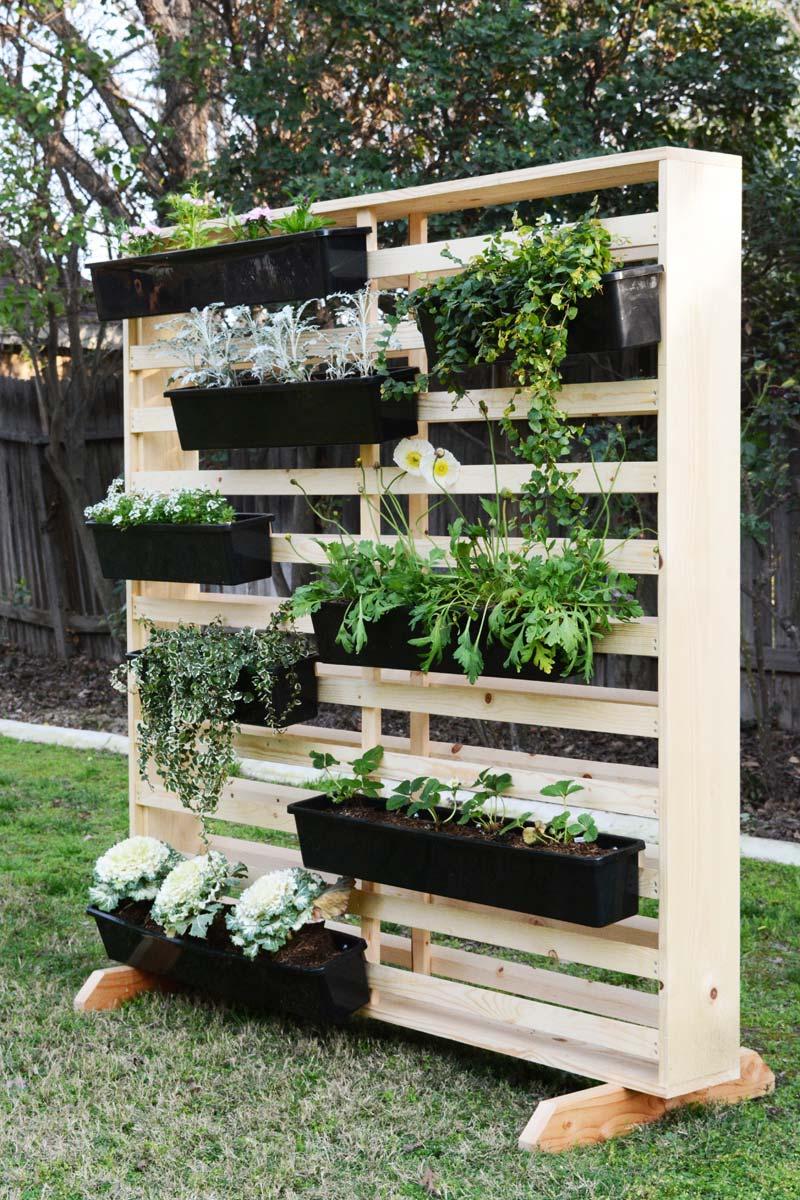 DIY scheidingswand plantenwand
