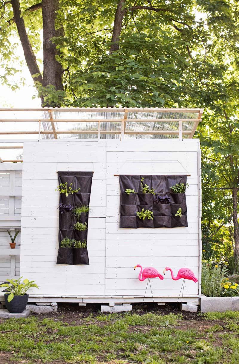 DIY verticale plantenzak