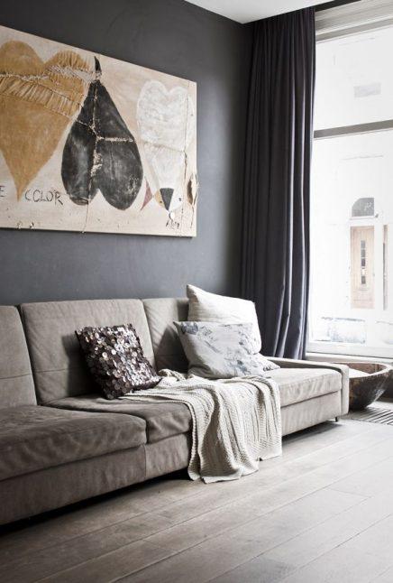 Grijze muur | Inrichting-huis.com