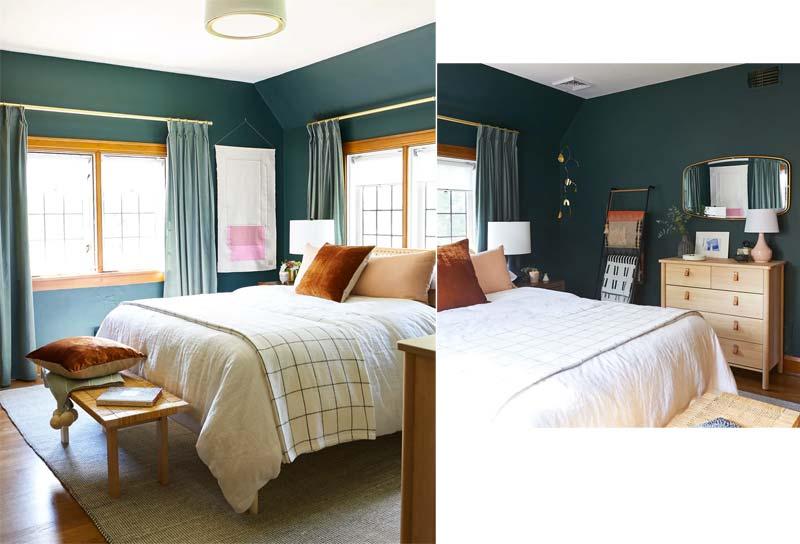 dressoir met leren deurgrepen slaapkamer