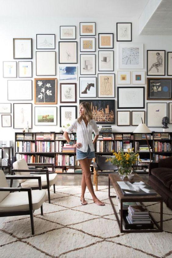 eclectisch interieur collage lijsten