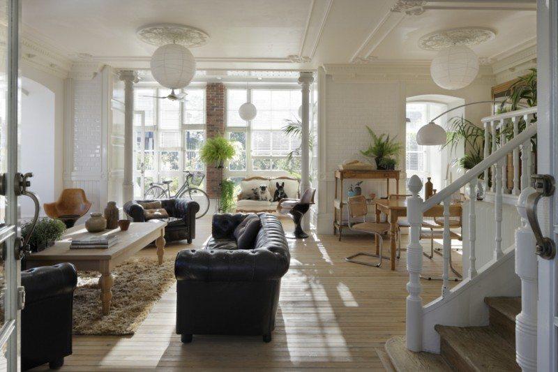 Eclectische woonkamer