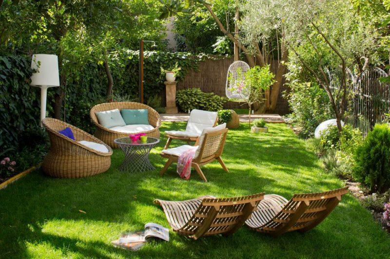 Een mooie groene tuin met écht gras