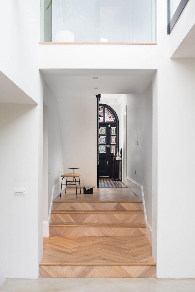 Een uitbouw in een karakteristieke Victoriaanse woning