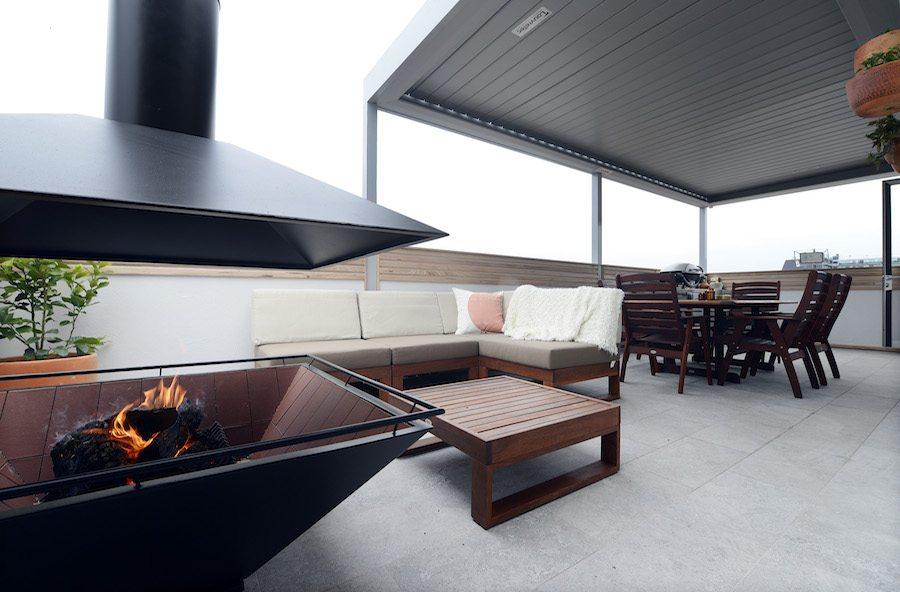 Luxe en modern dakterras ontwerp inrichting huis