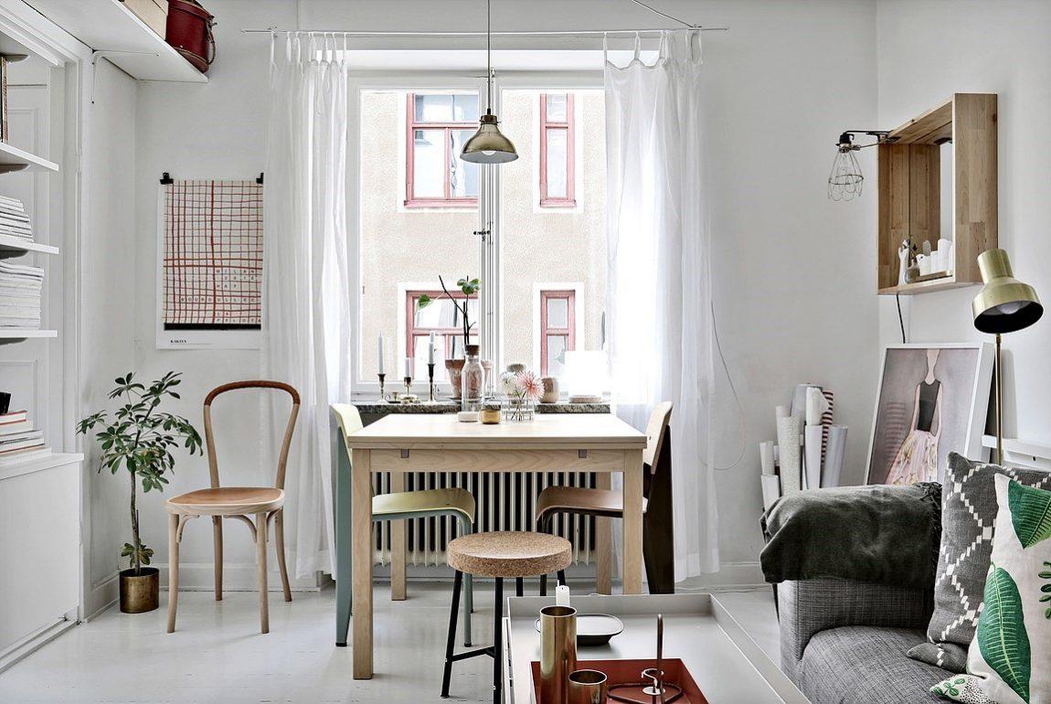 Eettafel in kleine woonkamer