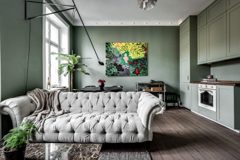 Eettafel in een woonkamer met open keuken | Inrichting-huis.com