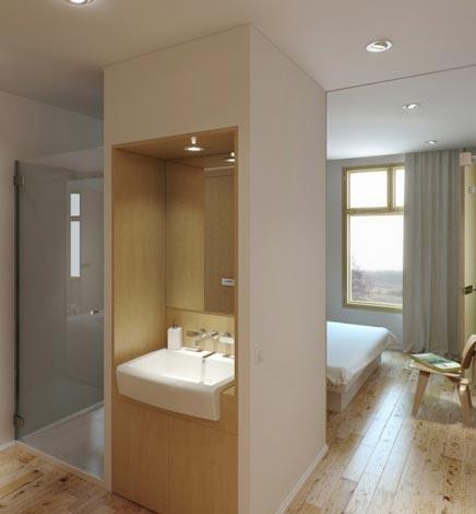 Effectieve slaapkamer met badkamer | Inrichting-huis.com
