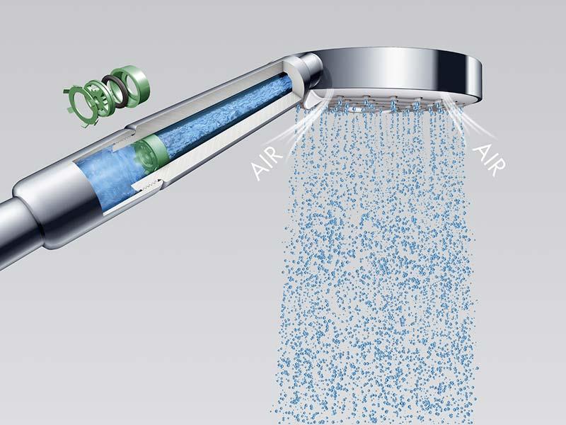 energie besparen waterbesparende douchekop