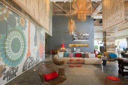 Exotische wohnzimmer von w hotels wohnideen einrichten for Exotische hotels