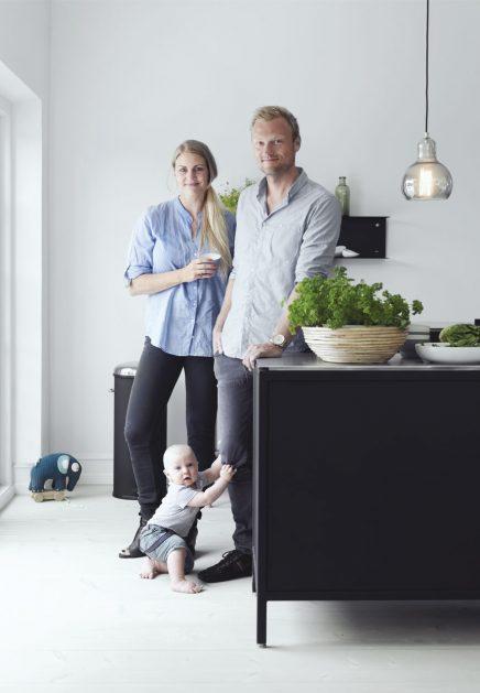 Familie woonkeuken van Morten en Charlotte