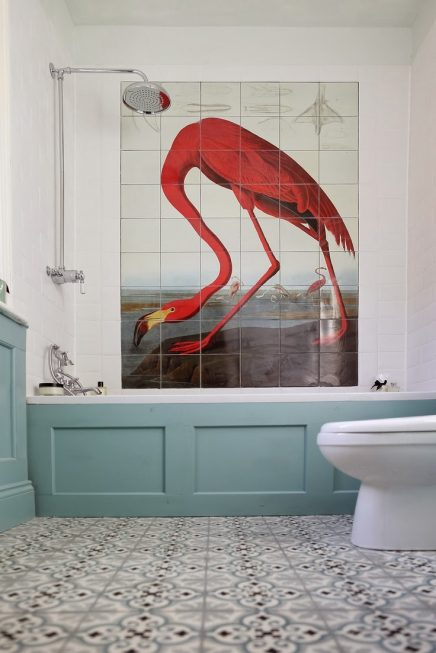 Flamingo badkamer