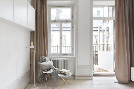 Frisse chique slaapkamer met gouden details
