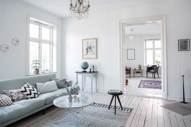 Frisse, heldere lichte appartement uit Göteborg