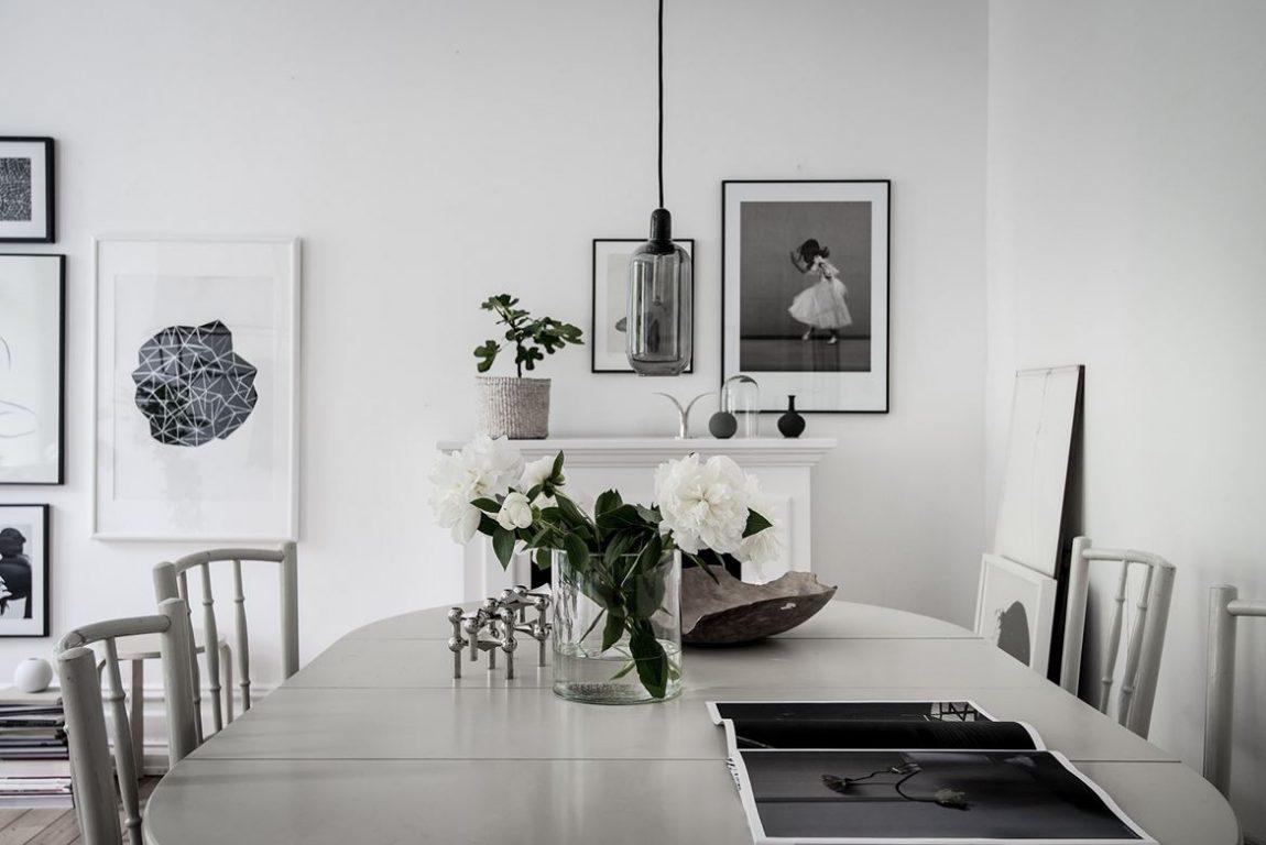 Frisse woonkamer met leuke items