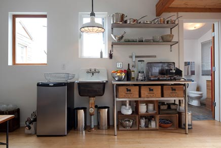 Van oude garage tot volledig functionerende leefruimte for Mini maison design