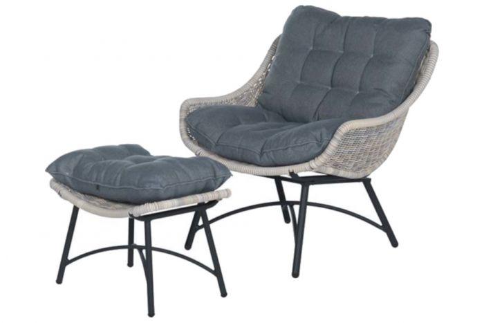 Garden Impressions Logan loungestoel incl. voetenbank