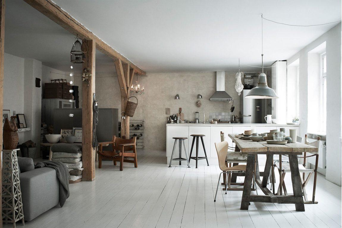Gerestaureerd koetshuis van Deense stylist Christine Rudolph