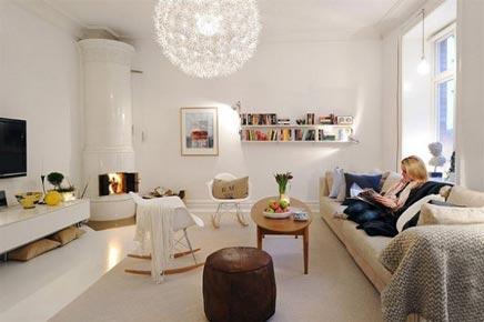In deze mooie woonkamer zijn de muren roze geschilderd! | Inrichting ...