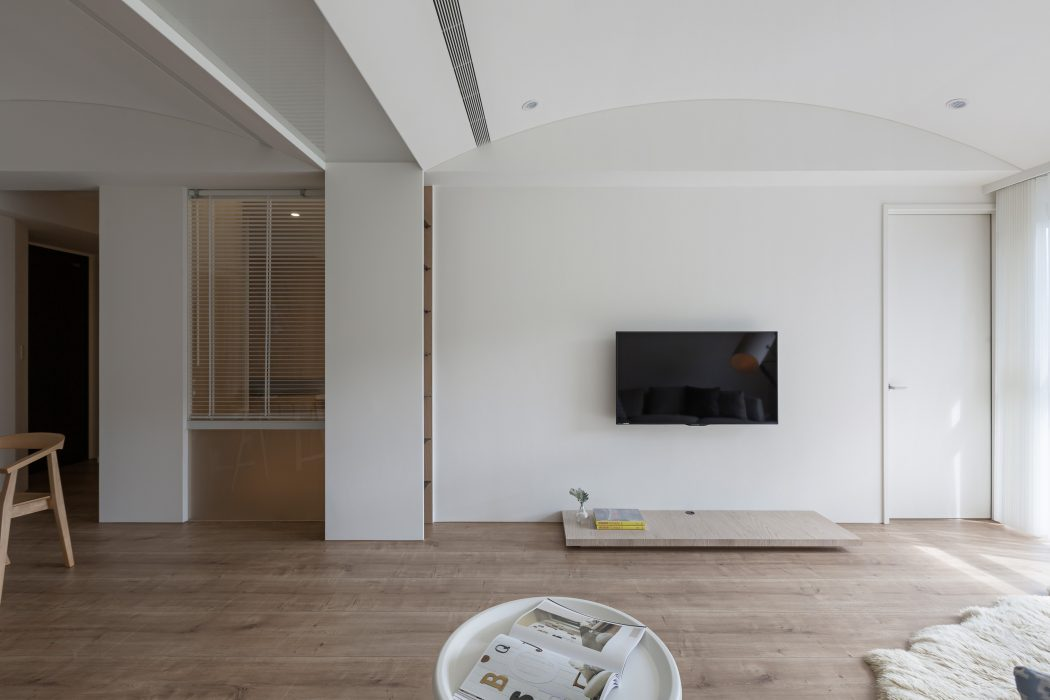 Klein thuiskantoortje in een modern appartement for Wand woonkamer