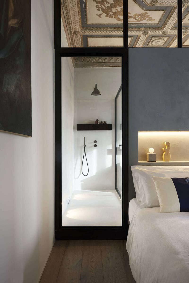 glazen wanden slaapkamer badkamer
