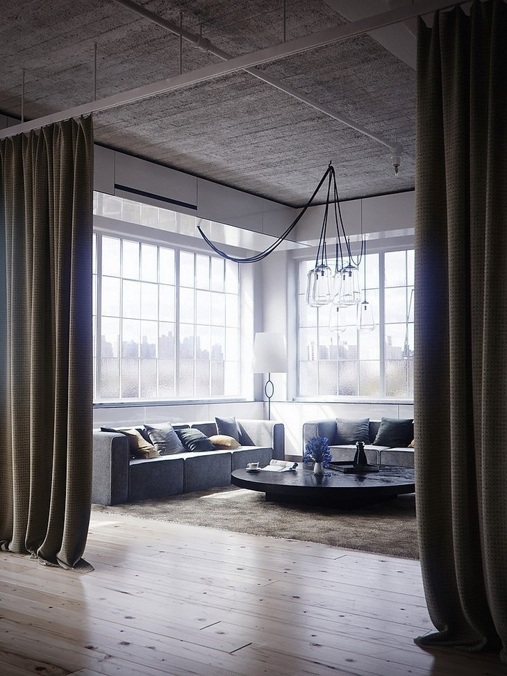 gordijnen-roomdivider-loft-woonkamer