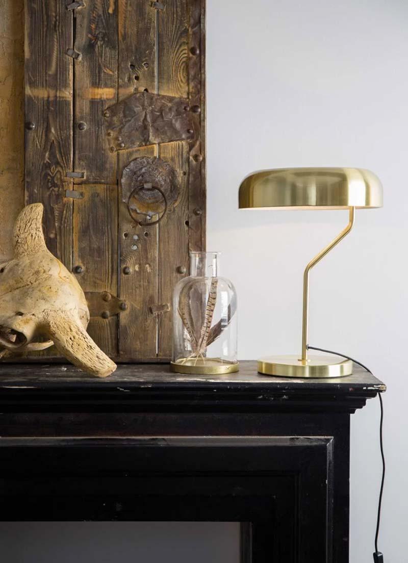 gouden tafellamp dutchbone eclipse