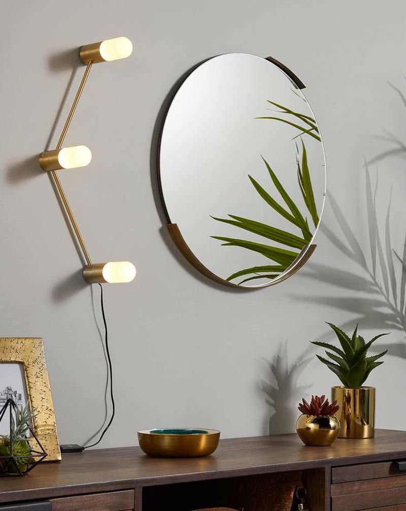 Gouden Kave Home wandlamp Badra