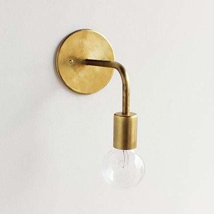 Gouden wandlamp Onefortytrhee